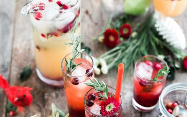 Festive drinks for virtual event