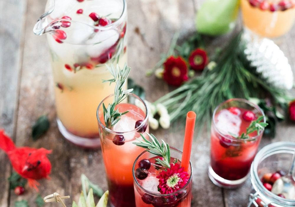 Festive cocktails for virtual events