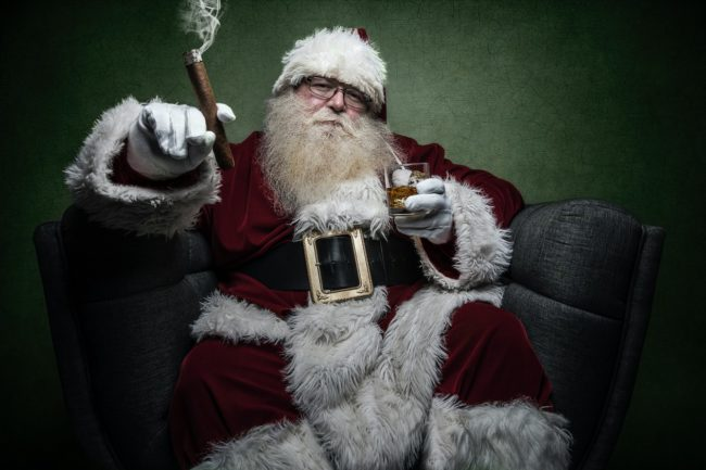 Grown-up virtual Santa
