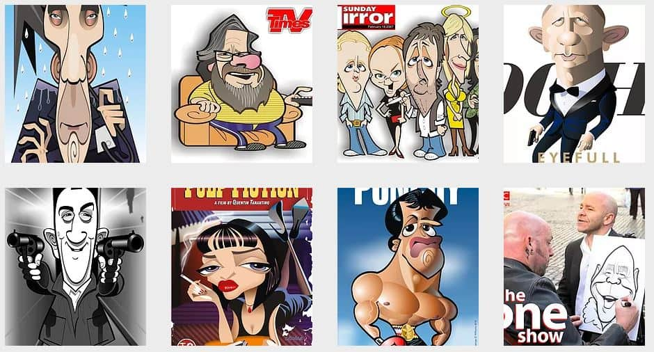 Caricaturist for virtual events